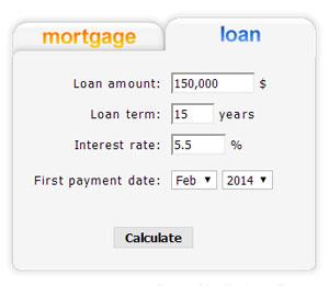 Marimark Mortgage, Mortgage Calculator