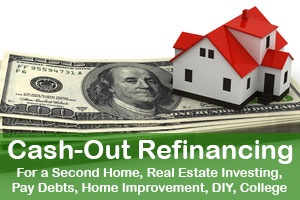 Cash-Out Refinancing for a Second Home, Real Estate Investing Pay Debts, Home Improvement, DIY, College
