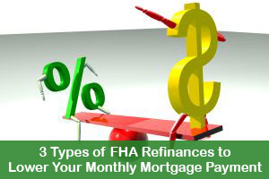 3 Types of FHA Refinances toLower Your Monthly Mortgage Payment