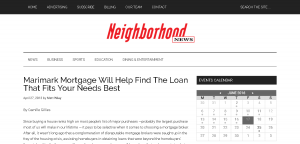 Neighborhood News Featured Marimark Mortgage