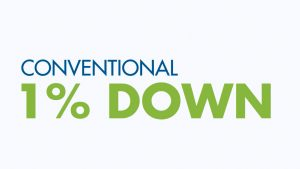Conventional 1% Down Payment Mortgage – The Lender Contributes 2%