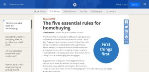 Chase - The five essential rules for homebuying